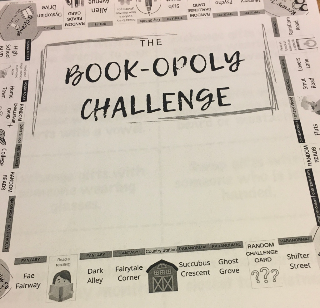 a monopoly game board with a reading theme
