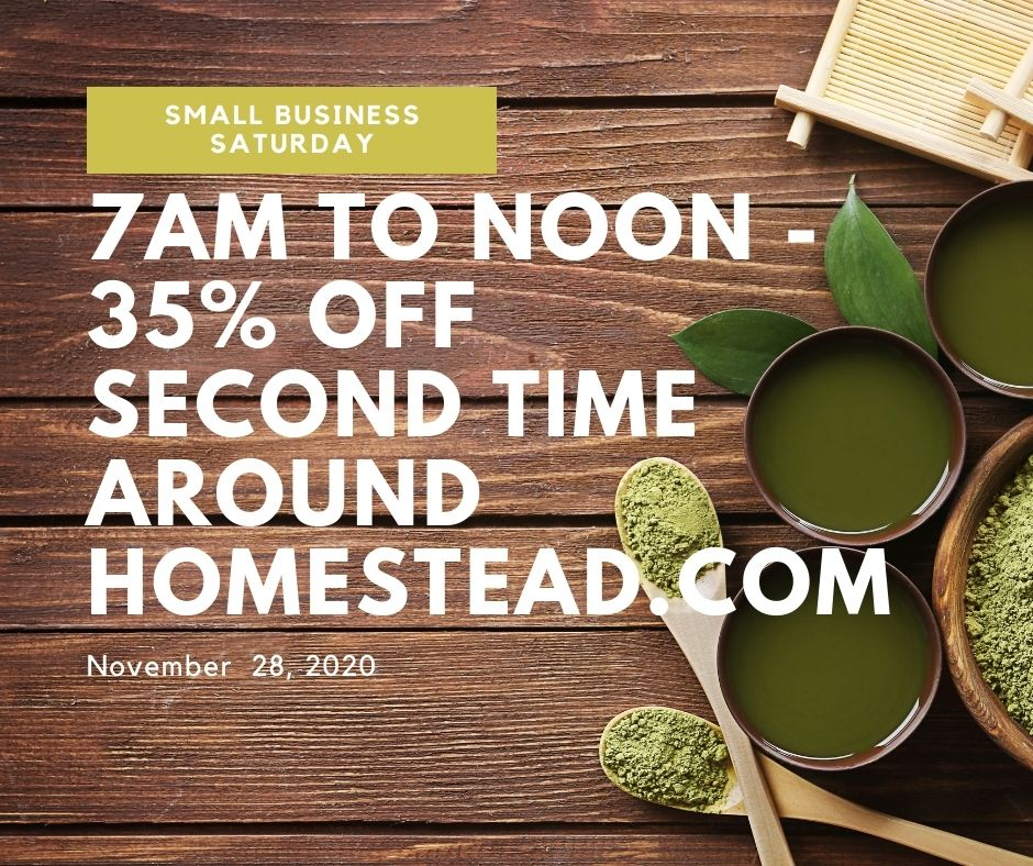 an offer of 35% off on Saturday November 28, 2020 for Small Business Saturday